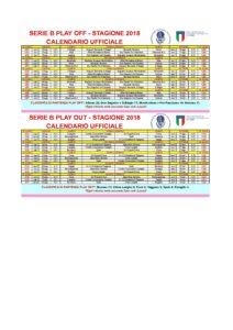Calendario Playoff Serie B.Serie B Ii Fase Calendario Ufficiale2018 Losferisterio